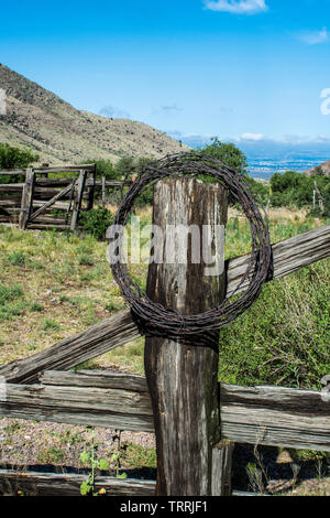 Scenery along Dripping Springs trail, Las Cruces NM - Stock Photo