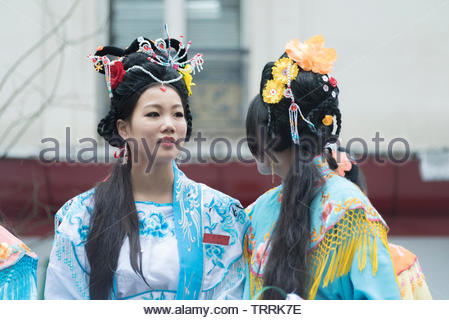 Paris, France. Chinese New Year celebrations - Stock Photo