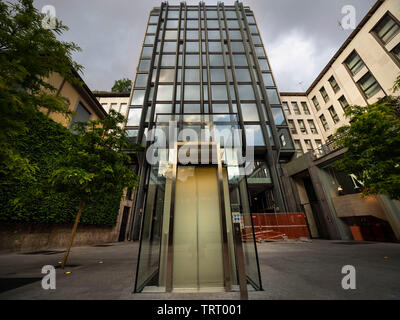 Milano, Italy 7 May 2019: New modern building in Liberty square in the middle city of Milan, Lombardy, Italy. - Stock Photo