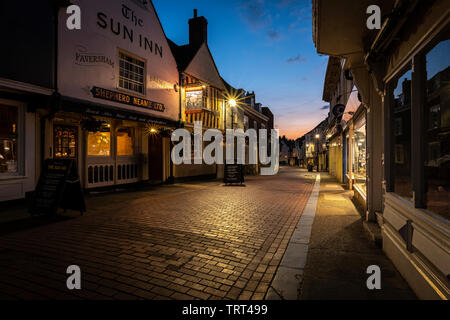 West Street in the historic market town of Faversham, Kent - Stock Photo