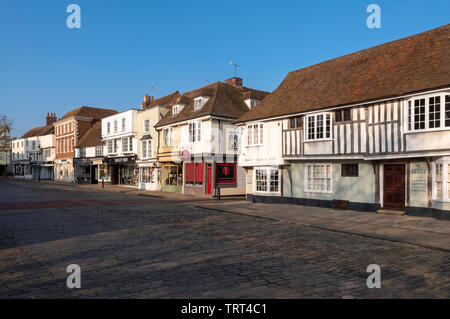 Court Street in the historic market town of Faversham, Kent - Stock Photo
