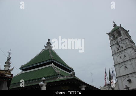 Kampung Kling Mosque, Malacca, Malaysia - Stock Photo