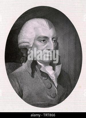 JOHN HOWARD (1726-1790) English philanthropist and prison reformer in 1789 - Stock Photo