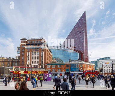 Cityscape with Nova, a striking modern high rise building by Morpheus London, a mixed use development in Belgravia by London Victoria station, Westminster, SW1, UK - Stock Photo