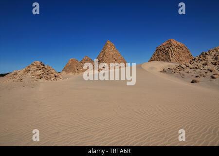 Ancient pyramids of Nuri, Sudan - Stock Photo