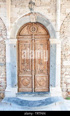 Orthodox Church on Samos Island in Greece - Stock Photo