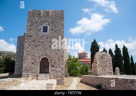 Castle of Lykourgos Logothetis on Samos island in the Aegean Sea, Greece - Stock Photo