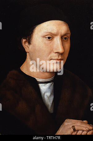 Hans Memling - Portrait An Unknown Man With Letter 1485 - Stock Photo
