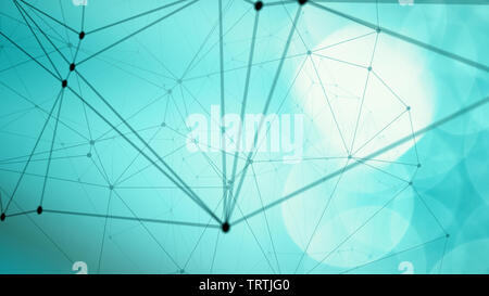 Infographic abstract diagram digital lines dots concept - Stock Photo