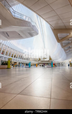 The Oculus at Westfield World Trade Center Mall - Stock Photo
