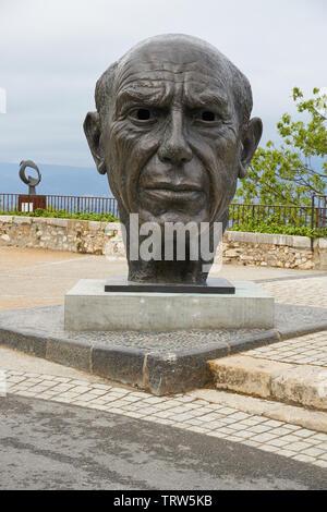 Mougins, France - April 03, 2019: Pablo Picasso monument in Mougins village