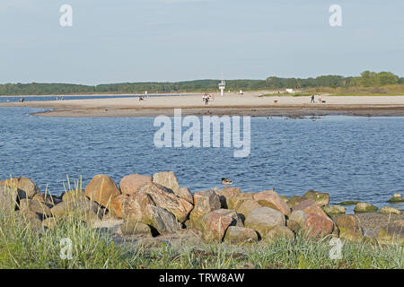 beach, Priwall, Travemuende, Schleswig-Holstein, Germany - Stock Photo