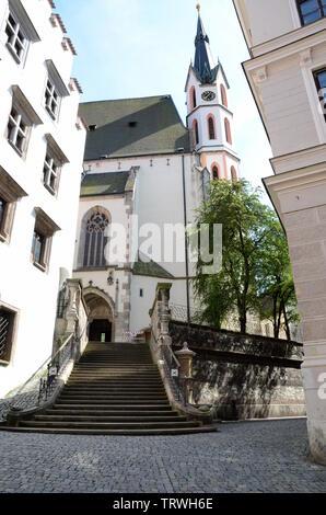 St. Vitus Church in Cesky Krumlov - Stock Photo