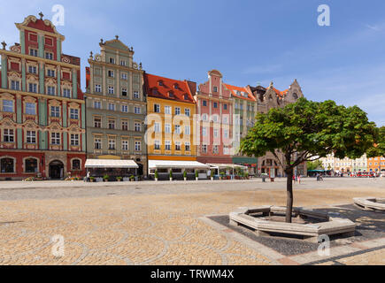 The main market in the old town in Wroclaw / Poland - Stock Photo