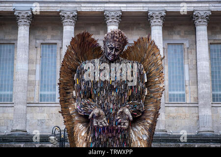 The Knife Angel sculpture by Alfie Bradley in Victoria Square, Birmingham, England - Stock Photo