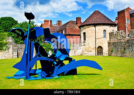 Sculpture, Marygate Tower, Bootham , York, England - Stock Photo