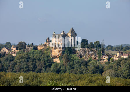Chateau de Montfort in the Dordogne valley. France - Stock Photo