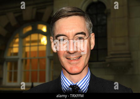 JACOB RES - MOGG MP IN WESTMINSTER, LONDON, UK ON THE 12TH JUNE 2019. MR.REES - MOGG GAVE HIS CONSENT FOR THIS PHOTOGRAPH TO BE TAKEN FOR ALAMY ARCHIVE AND REPORTAGE. - Stock Photo