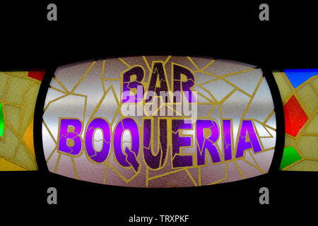 Bar Boqueria, Mercado de la Boqueria, Barcelona - Stock Photo