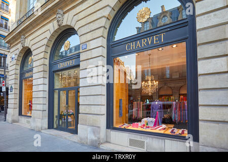 PARIS, FRANCE - JULY 21, 2017: Charvet fashion luxury store in Paris, France. - Stock Photo