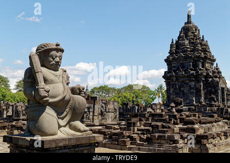 Prambanan, Java, Indonesia. 7th May, 2019. Sewu temple part of 9th-century Hindu Prambanan Temple complex, UNESCO World Heritage Site, Central Java. - Stock Photo