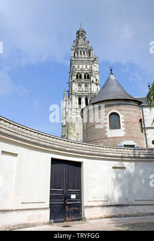 The view from inside the grounds of the art museum in Tours - Stock Photo