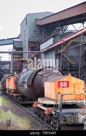 Steelworks Scunthorpe - Stock Photo