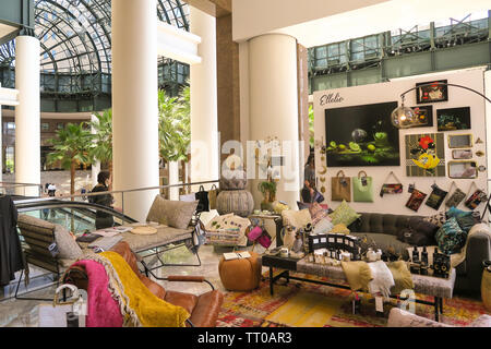 Shopping Mall at Brookfield Place in Battery Park City, NYC, USA - Stock Photo
