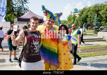 Sofia, Bulgaria - June 08, 2019: Sofia Pride is the biggest annual event dedicated to the equality and human rights of all citizens and the biggest - Stock Photo