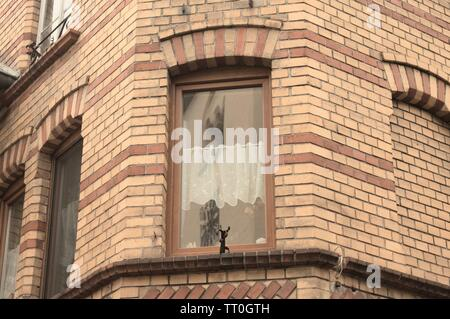 Window detail of a typical german house (Moselkern, Germany, Europe) - Stock Photo