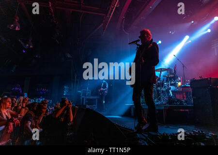 June 14th 2019. Zagreb, Croatia: Concert of American rock band Black Rebel Motorcycle Club from San Francisco, California in Zagreb - Stock Photo