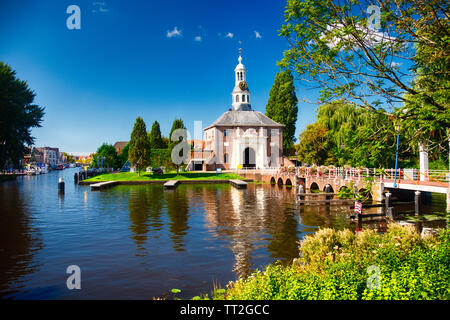 View of one of the Two remaining City gates of leiden the Zijlpoort, South Holland, Netherlands - Stock Photo