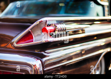 Tail Light Close Up View of a 1958 Mercury Park Lane Sedan - Stock Photo