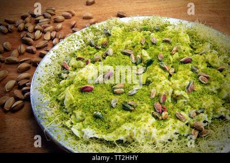pistachio dessert oriental turkish style - Stock Photo