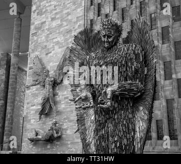 The Knife Angel Visits Coventry - Stock Photo