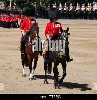 Trooping the Colour 2019, Horse Guards Parade, London, England - Stock Photo