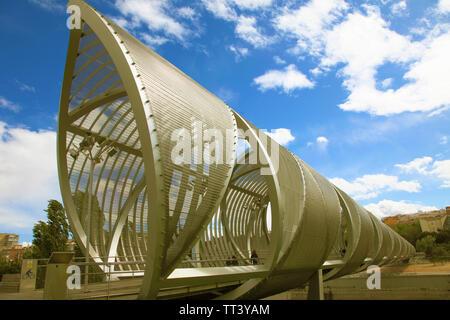 Spain, Madrid, Arganzuela Bridge, Dominique Perrault architect, - Stock Photo