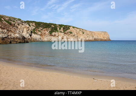 Cala Domestica beach in Sardinia, Italy - Stock Photo