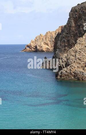 Coastline of Cala Domestica in Sardinia, Italy - Stock Photo