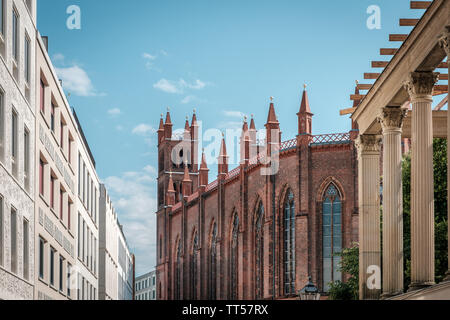 historic architecture, church and modern buildings, real estate in Berlin, Mitte