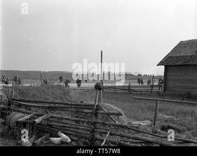 2. Weltkrieg Wehrmacht Heer Europa Angriff in Weißrussland - 2nd World War German Army Europe Attack in Belarus - Stock Photo