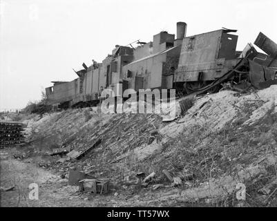 2. Weltkrieg Sowjetarmee / Rote Armee Ostfront Panzerzug - 2nd World War Soviet Army / Red Army Eastern Front Armoured Train - Stock Photo