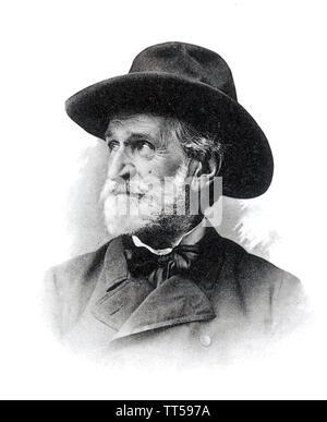 GIUSEPPE VERDI (1813-1901) Italian opera composer Stock Photo