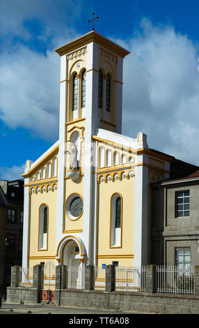 A church building in a city of Punta Arenas, Magallanes Province, Patagonia, Chile, South America - Stock Photo