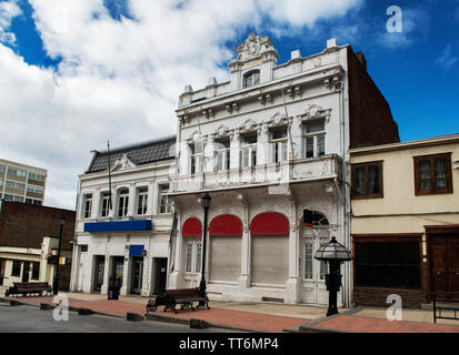 Streets of Punta Arenas, Patagonia, Chile, South America - Stock Photo
