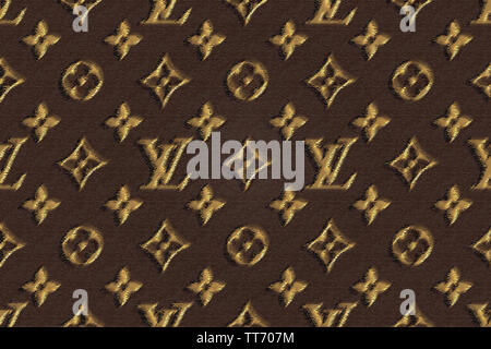 Louis Vuitton Wallpaper Background Iconic Luxury Brand Stock