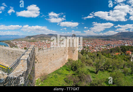 View of the Ohrid town as seen from the castle Samuil, Republic Of Macedonia