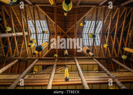 Many Glacier Hotel Interior, Glacier National Park - Stock Photo