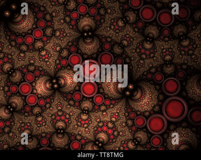 Abstract Fractal Apollonian Gasket Pattern Background - Fractal Art. Circular Fractal. Abstract Intricate Background
