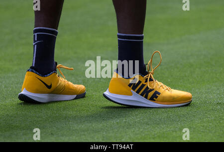 London, UK. 15th June, 2019. during the practice & qualifying rounds of tennis at The Fever-Tree Championships at The Queen's Club, London, England on 15 June 2019. Photo by Andy Rowland. Credit: PRiME Media Images/Alamy Live News - Stock Photo